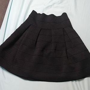 H&M pleated , layered black midi skirt medium